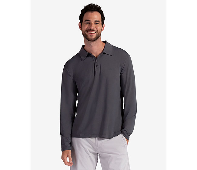 BloqUV Long Sleeve Polo (M) (Grey)